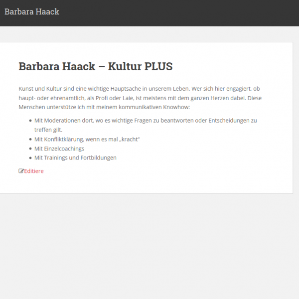 Website: Barbara Haack