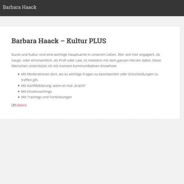 Website: Barbara Haack