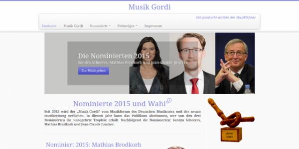 Website Musik Gordi